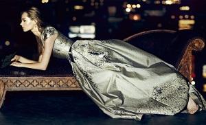 Carolina-Herrera-Westeria-Metallic-Jacquard-Gown1