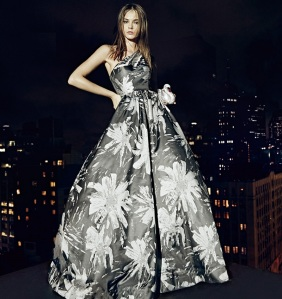 David-Meister-Jacquard-One-Shoulder-Floral-Ball-Gown